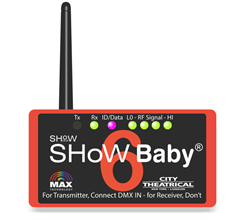City Theatrical Showbaby Wireless DMX Transceiver